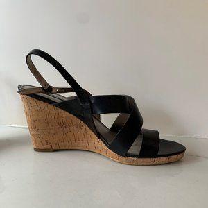 Bandolino cork wedge heel sandals